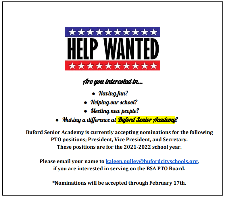 PTO Help Wanted