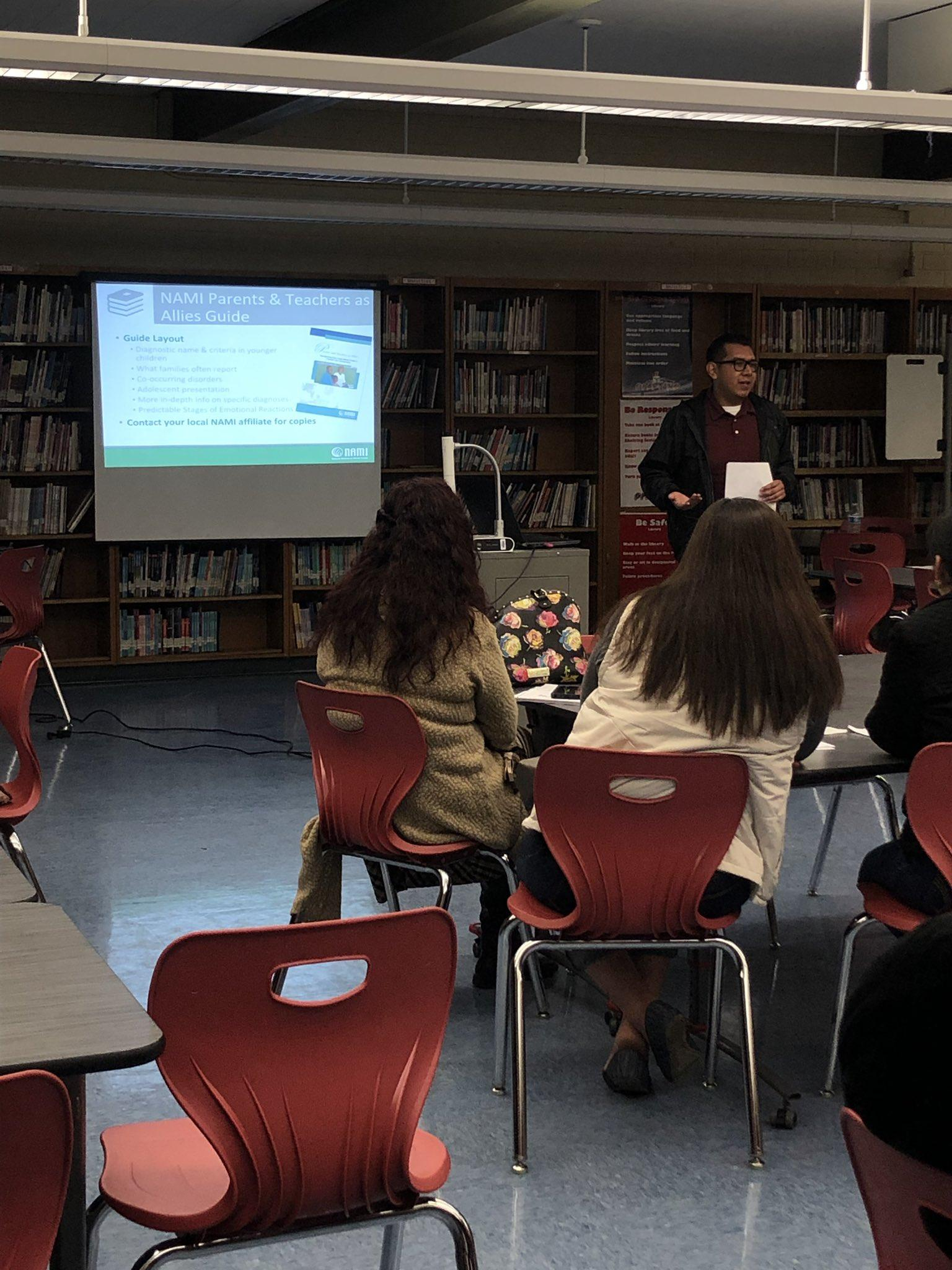 A great big thank you to @NAMICommunicate for presenting to our parents and raising Mental Health Awareness!  What a great turn out!! Thank you, parents and NAMI for supporting our students.