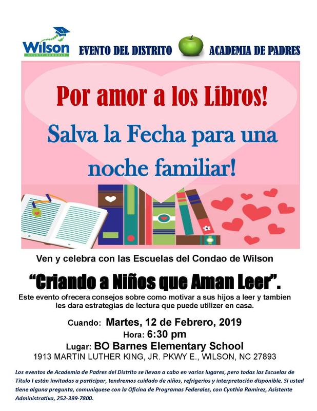 Spanish flyer for parent academy