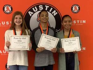 Student of the month winners