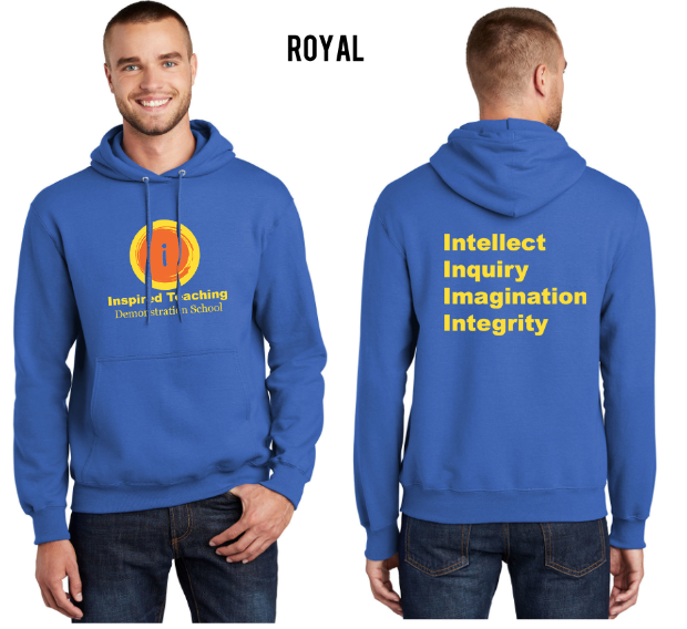 Royal Blue Hooded Sweatshirt