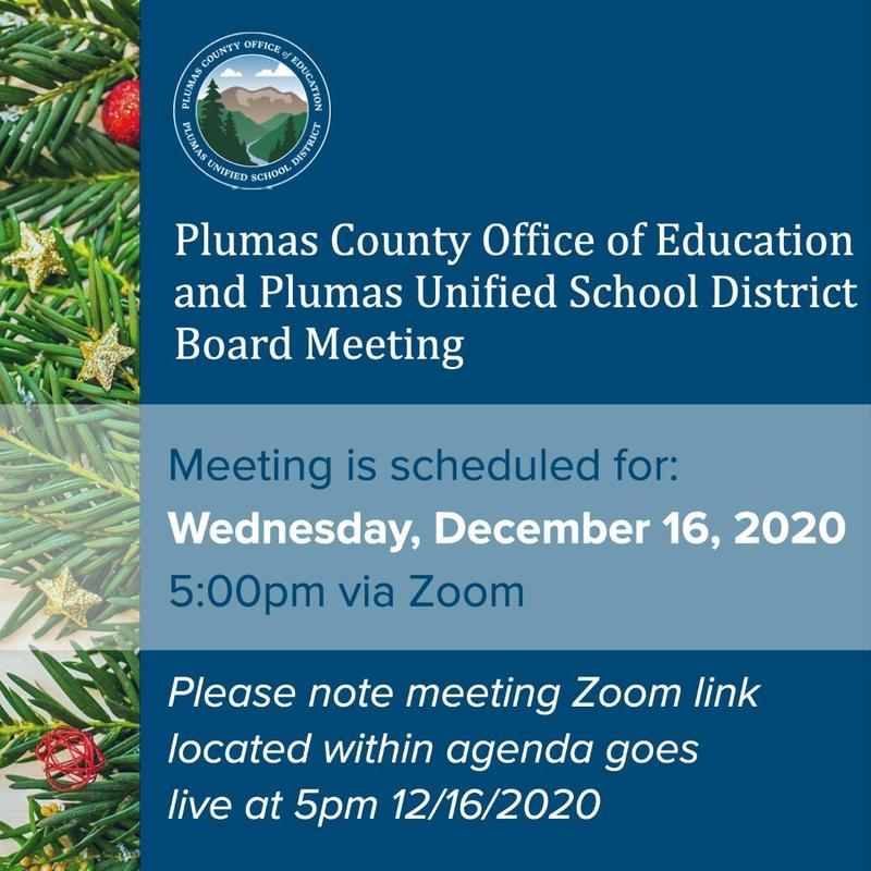 PUSD board meeting agenda 12-16-20