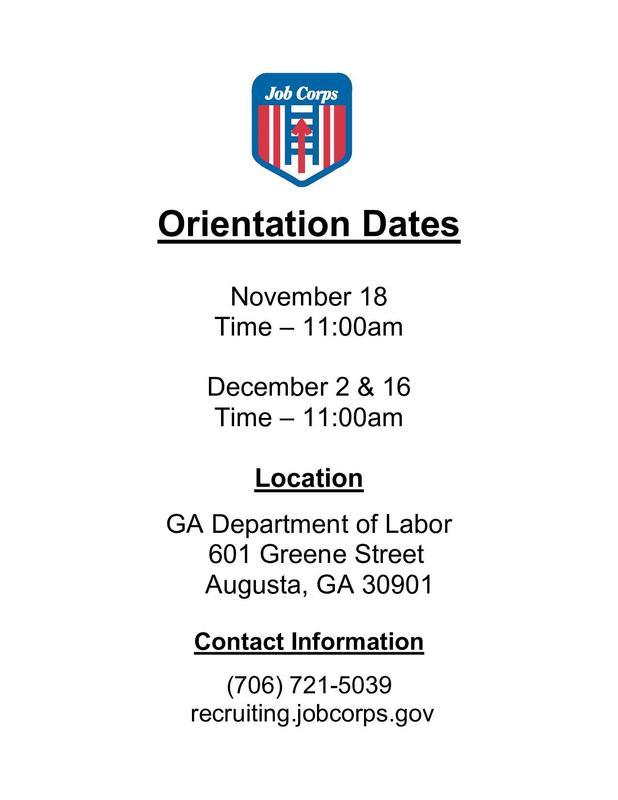 Job Corps Orientation
