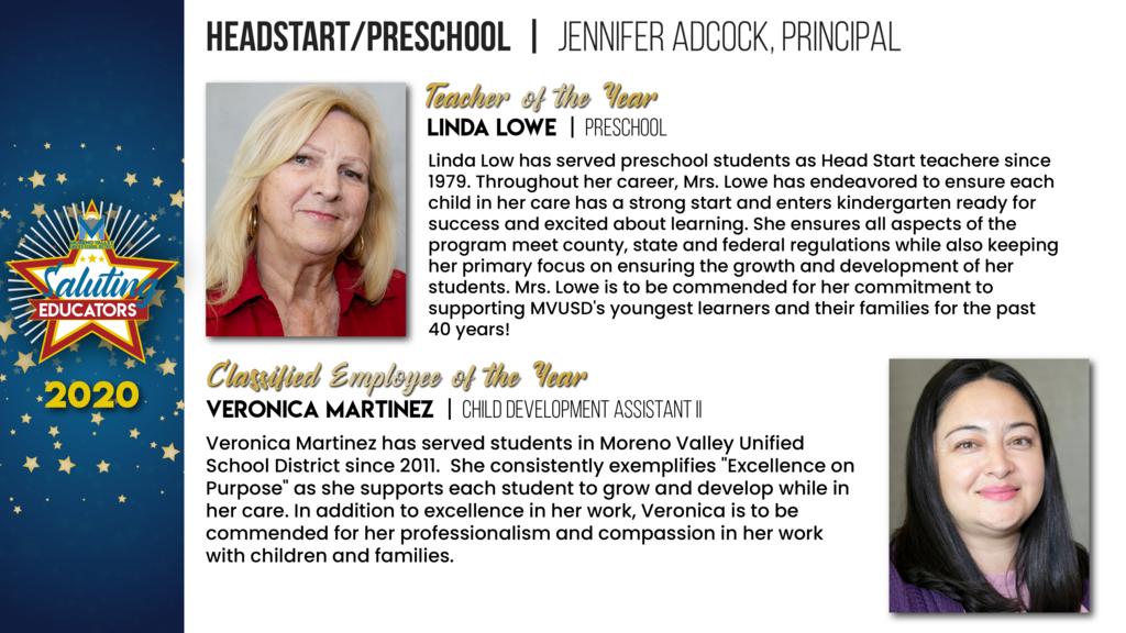 Headstart/Preschool Employees of the Year