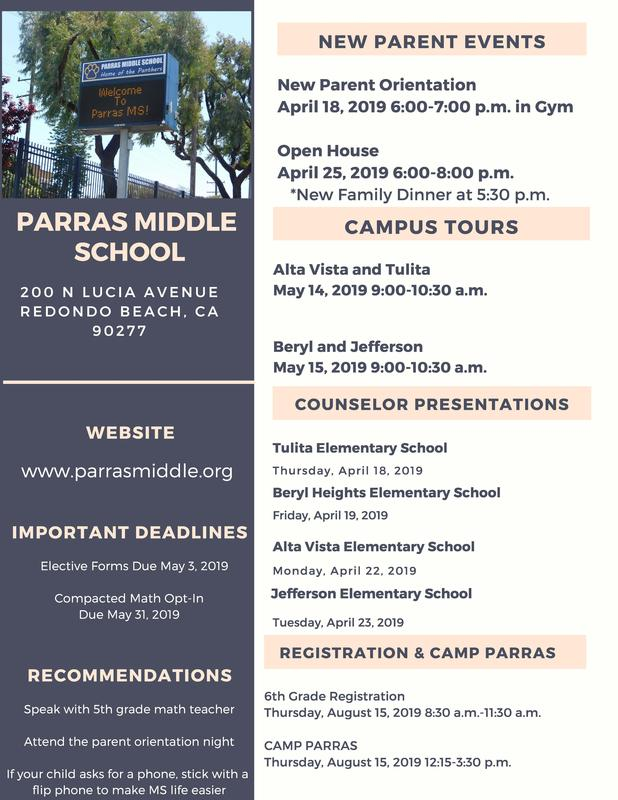 Attention Incoming 6th Grade Families Featured Photo