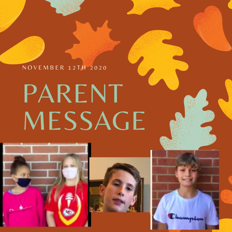 SCIS Parent Message: November 12th, 2020 Featured Photo