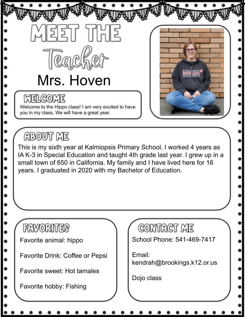 Ms. Hoven (K) 2