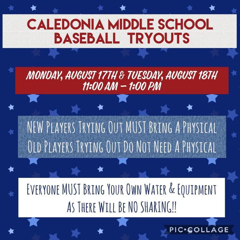 2020 baseball Tryouts