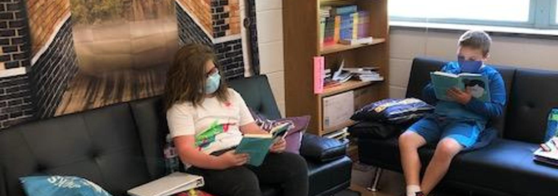 NMS Students relaxing and reading
