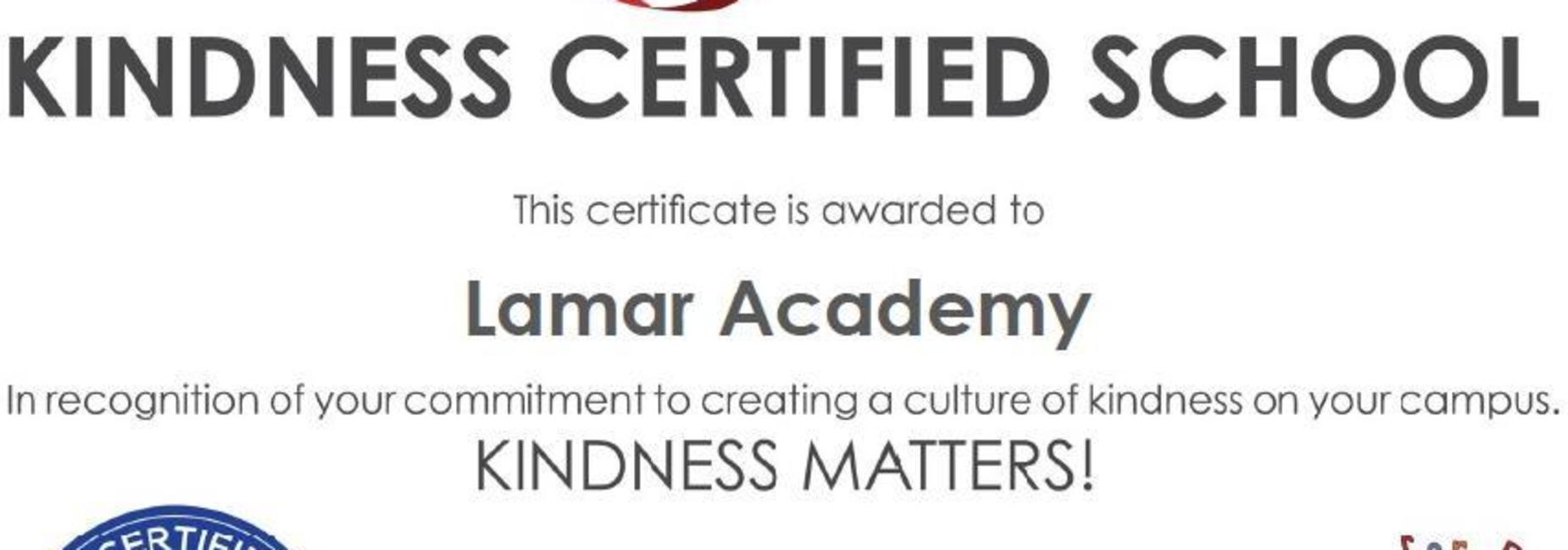 Kindness School certificate