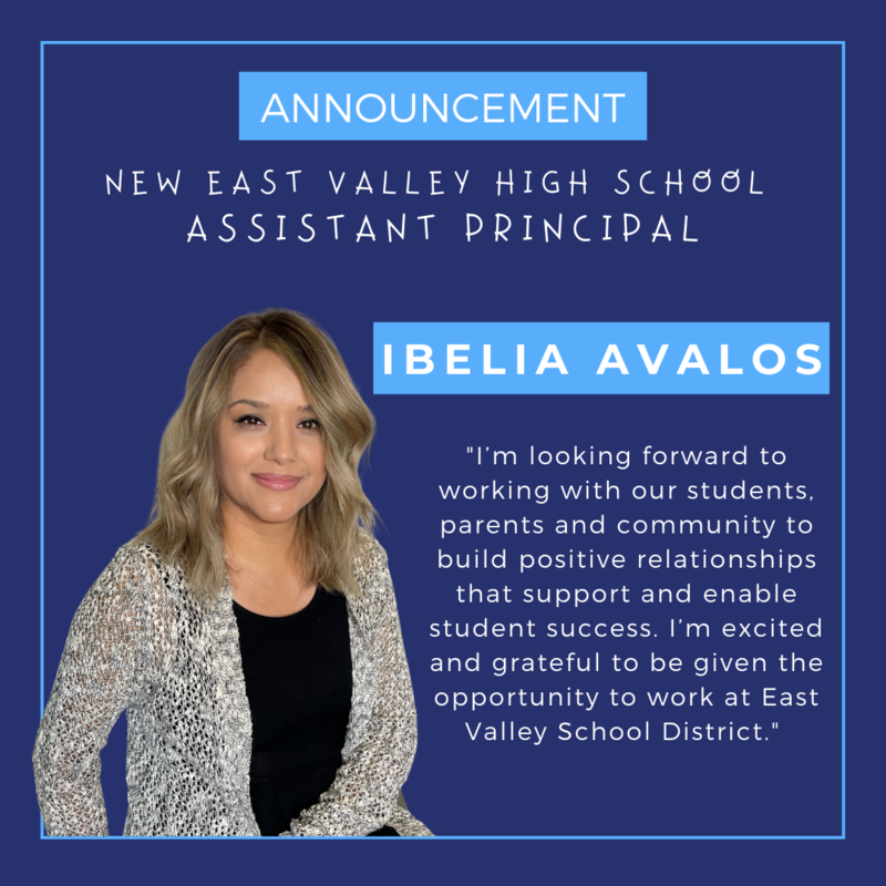 Ibelia Avalos announced as the new Assistant Principal of EVHS