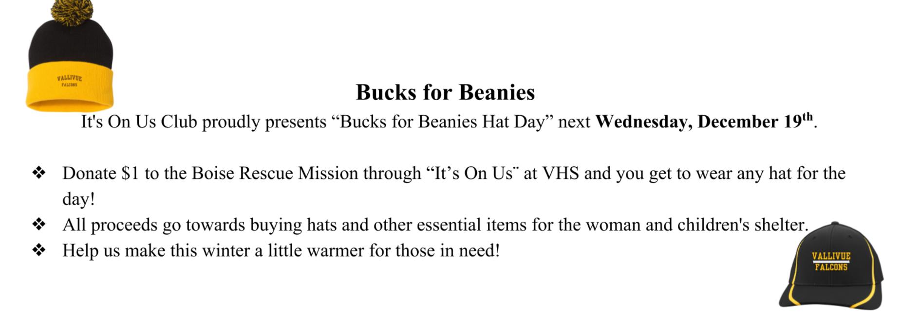 Bucks for beanies