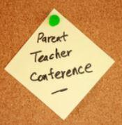 Parent Teacher Conference post it note