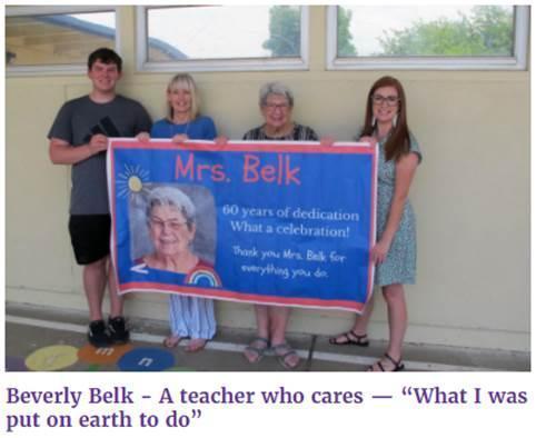 60 years, Bev Belk.