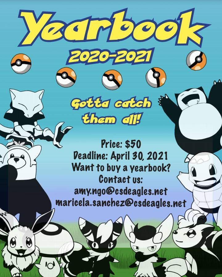 Flyer for 2020-2021 Yearbook