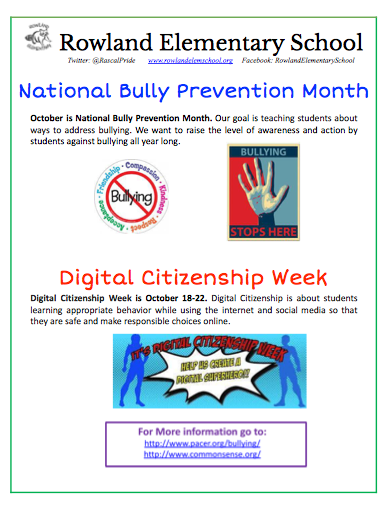 National Bully Prevention Month Featured Photo
