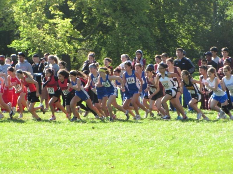 Hancock College Prep Cross Country Team in action