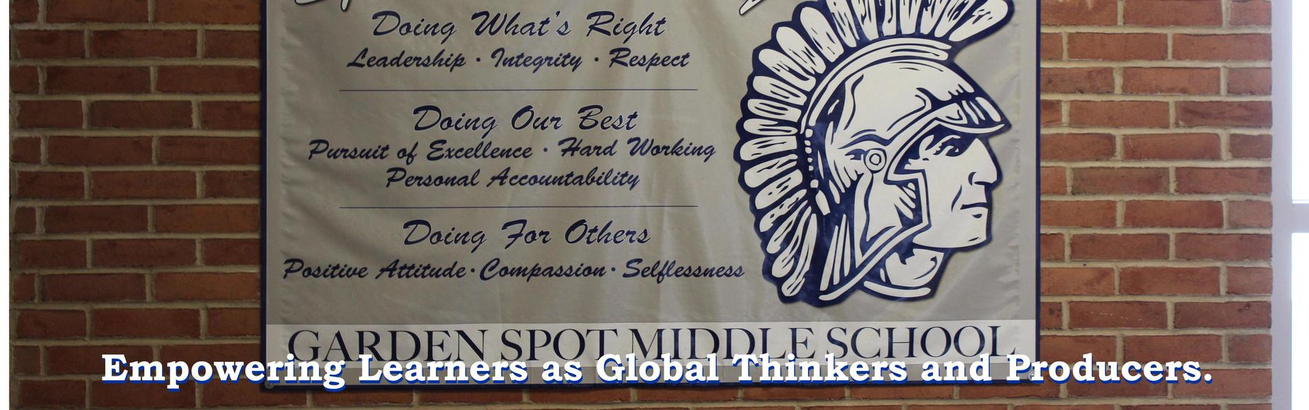 Garden Spot Middle School The Spartan Way Photo