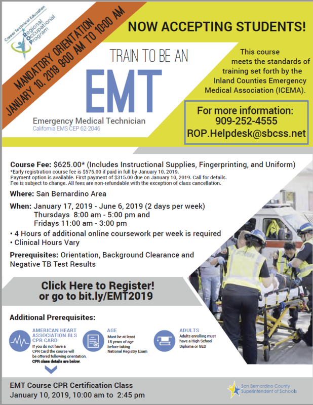 Train to be an Emergency Medical Technician (EMT) Thumbnail Image