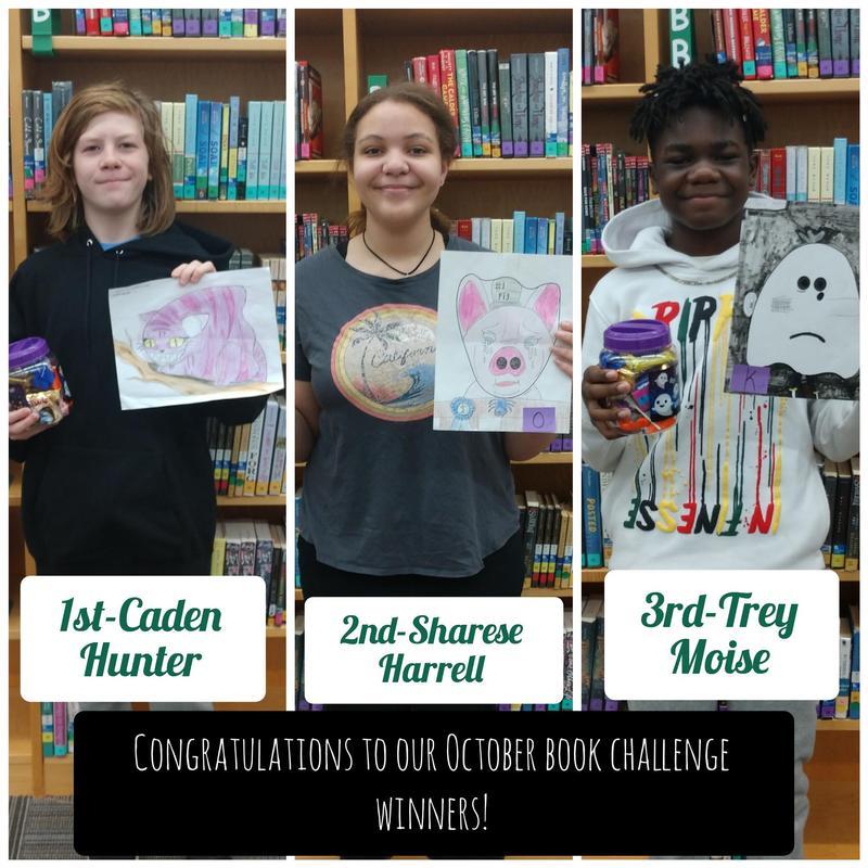 October Book Challenge Winners