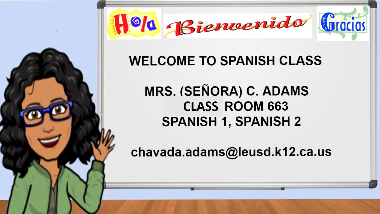 SPANISH CLASS PAGE