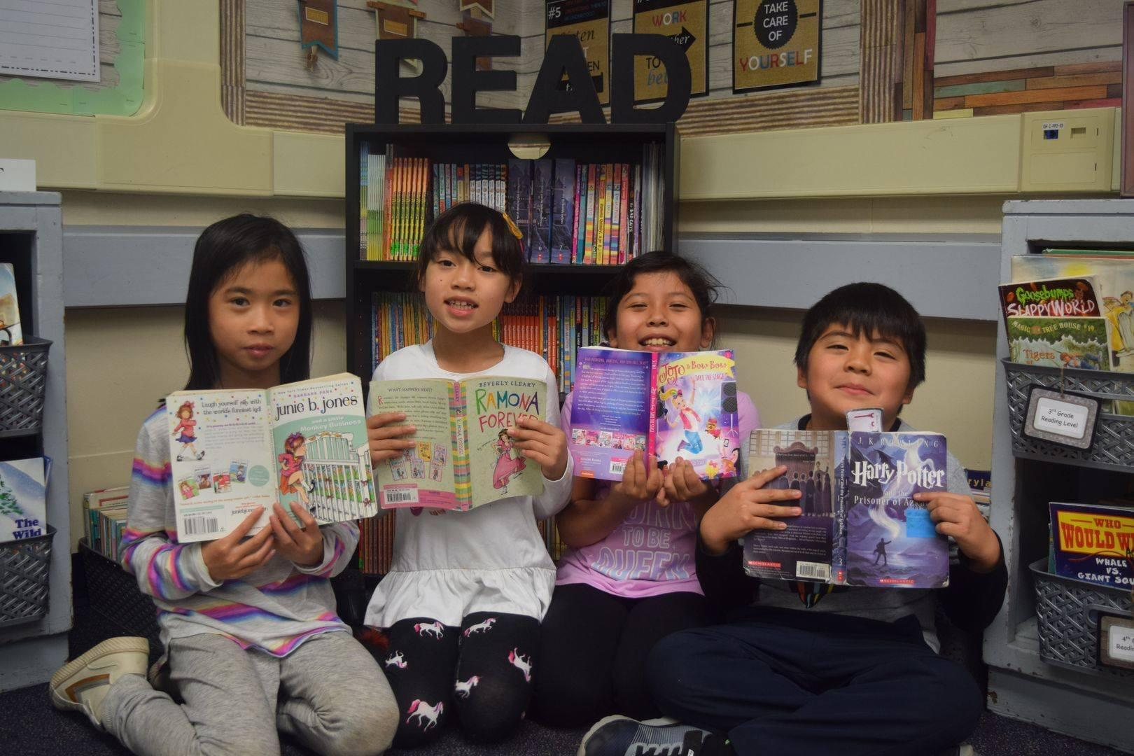 EMCSD Students Reading Together