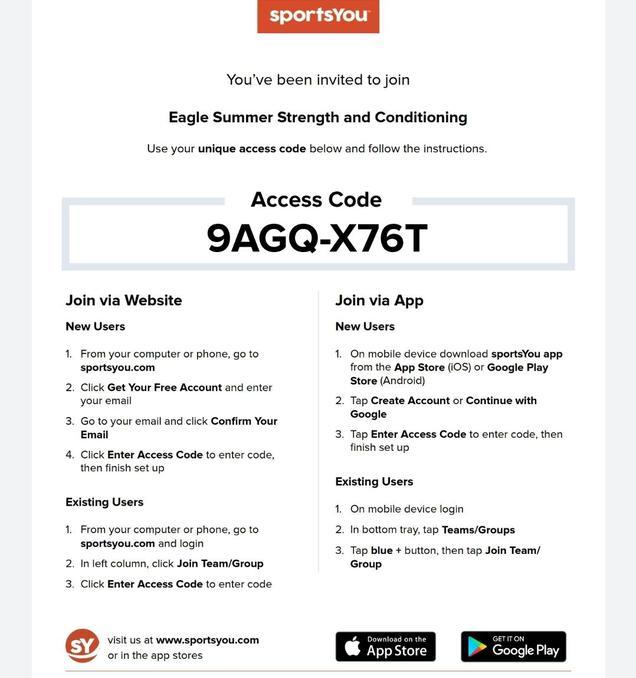 access code
