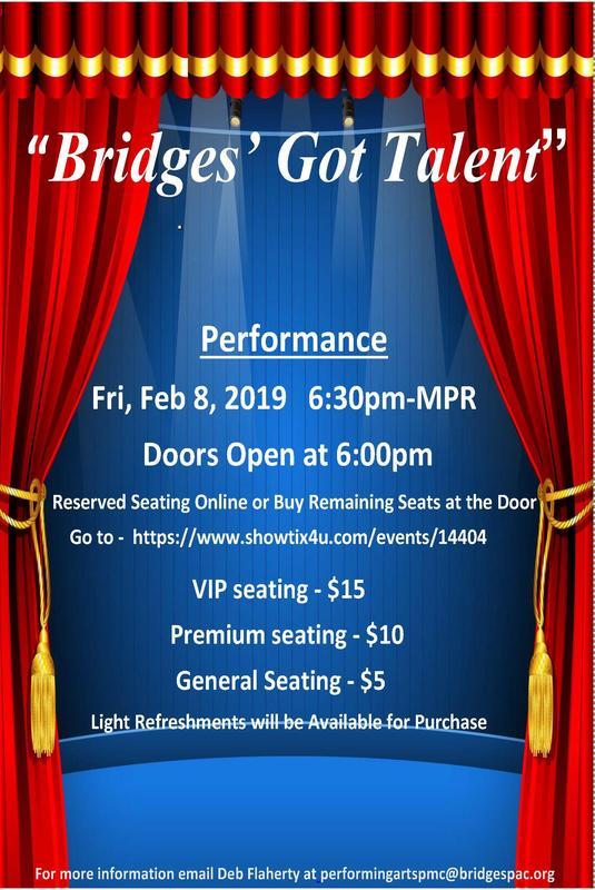 bridges got talent poster
