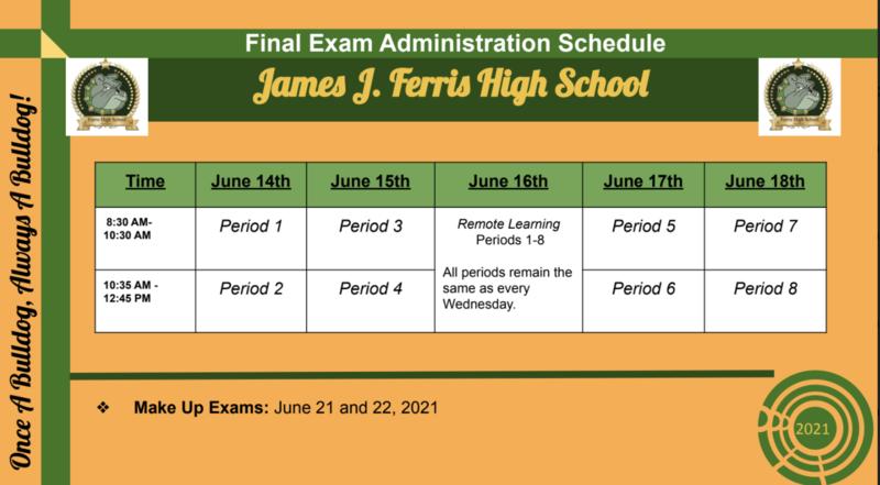 FHS Exam Schedule