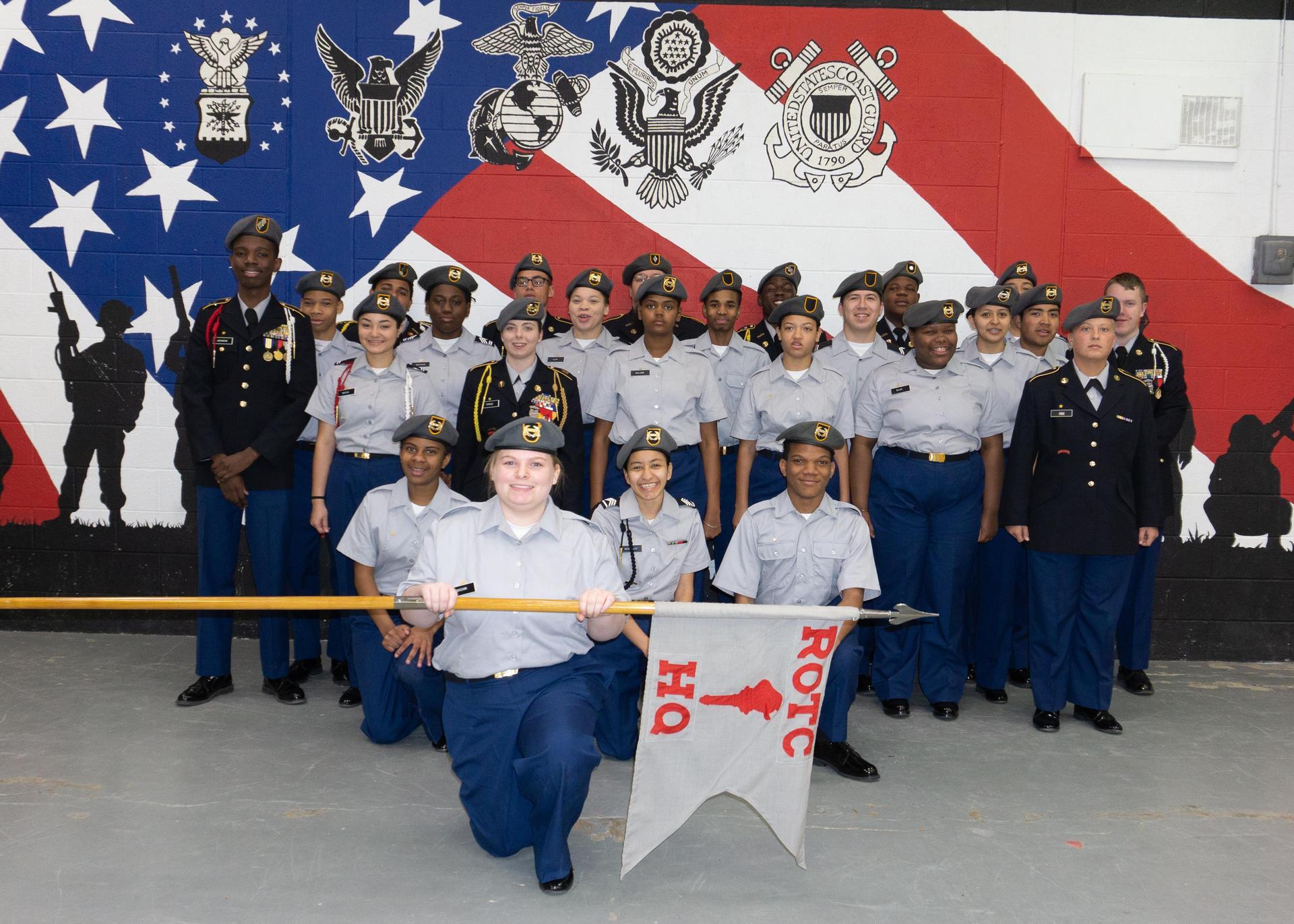 Bulldog JROTC Class Photo