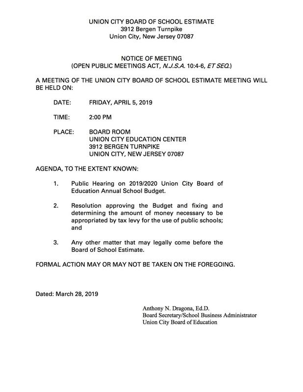 public notice of meeting letter