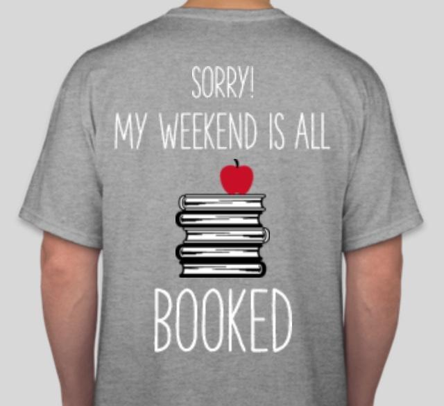 back of book club tshirt