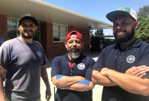 CSS summer custodial team (l to r): Ruben Mora, Armando Piril, and Bill Hayer.