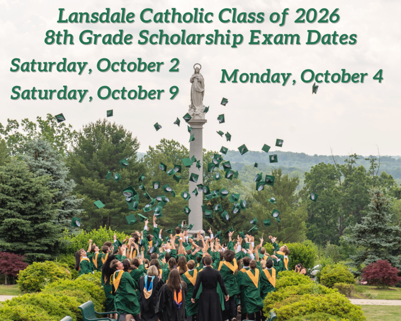 Class of 2026 - 8th Grade Scholarship Exam Dates Featured Photo
