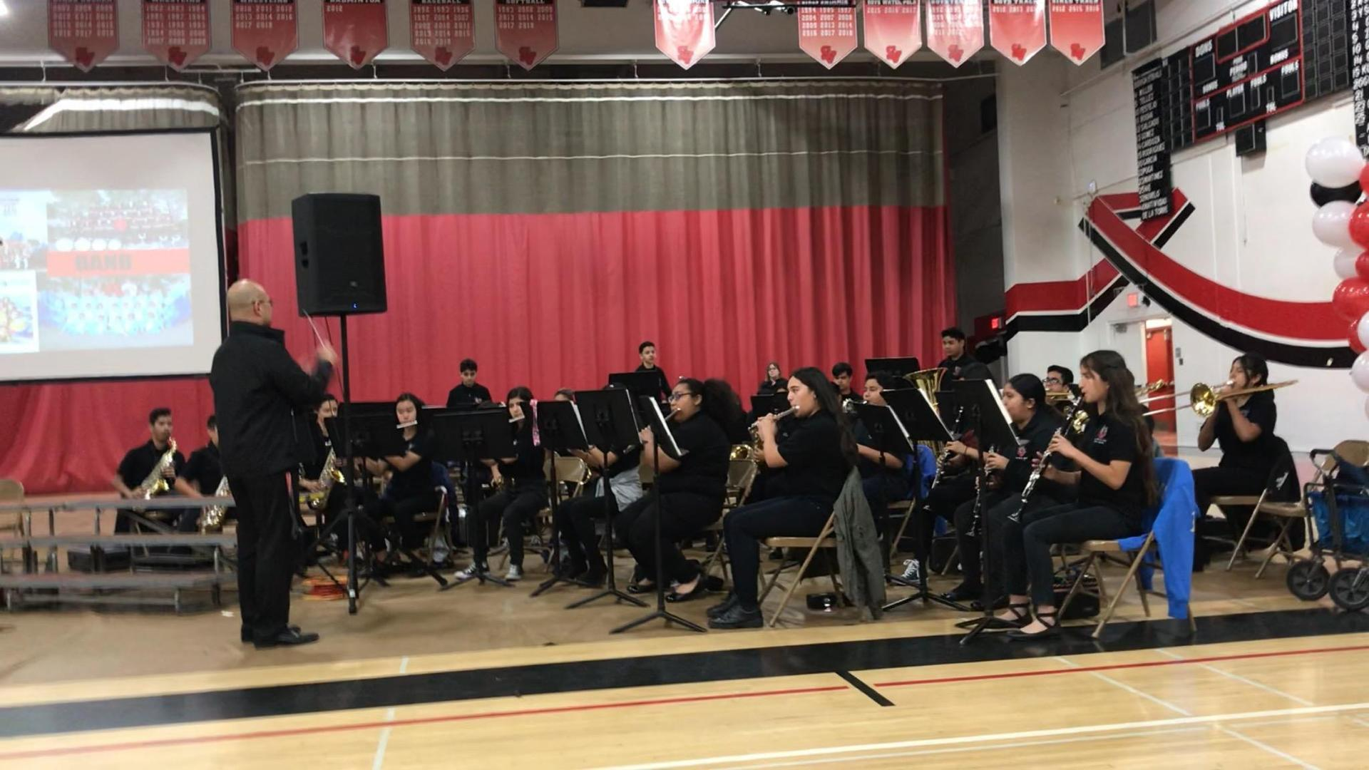 Symphonic Band performing @ 6th Grade Orientation 3/22/2019