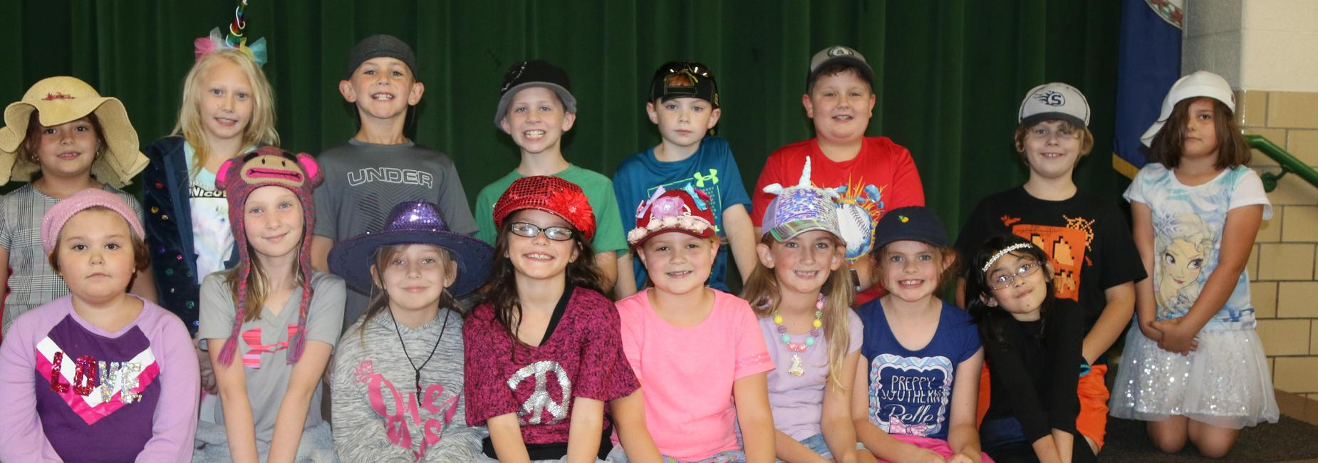 Students show their school spirit during MSHS Homecoming Week by wearing a hat for Hat Day.