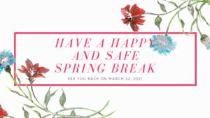 Happy and safe spring break image