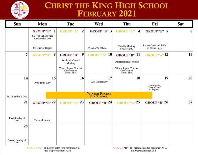 February 2021 Calendar Featured Photo