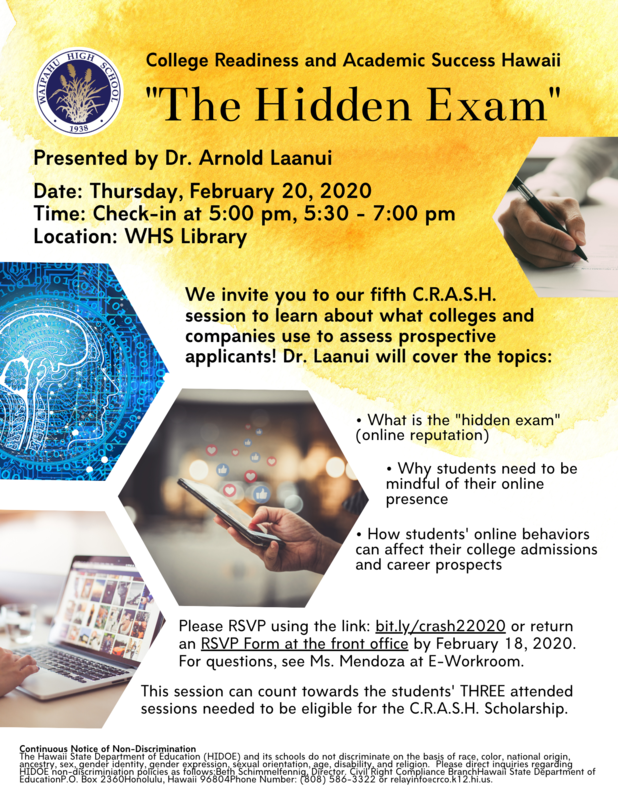 CRASH 5 The Hidden Exam Flyer