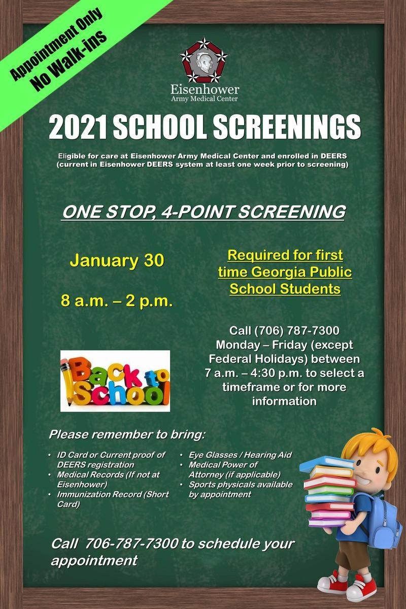 Fort Gordon School Screenings