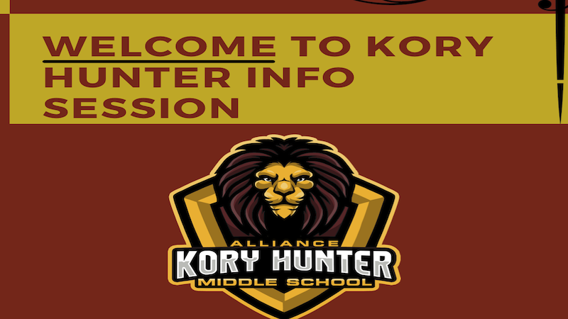 WELCOME TO KORY HUNTER INFO SESSION Thumbnail Image