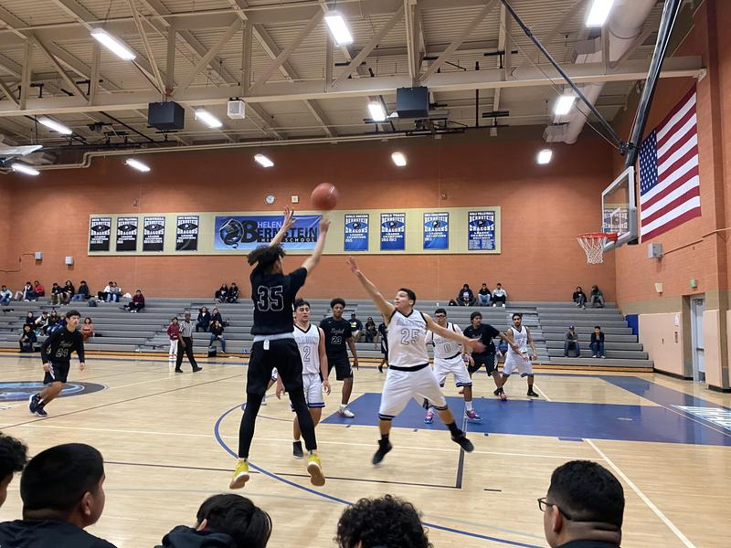 Roybal senior basketball player Moises Gamboa named to the Division 2 All-City Basketball Team Thumbnail Image