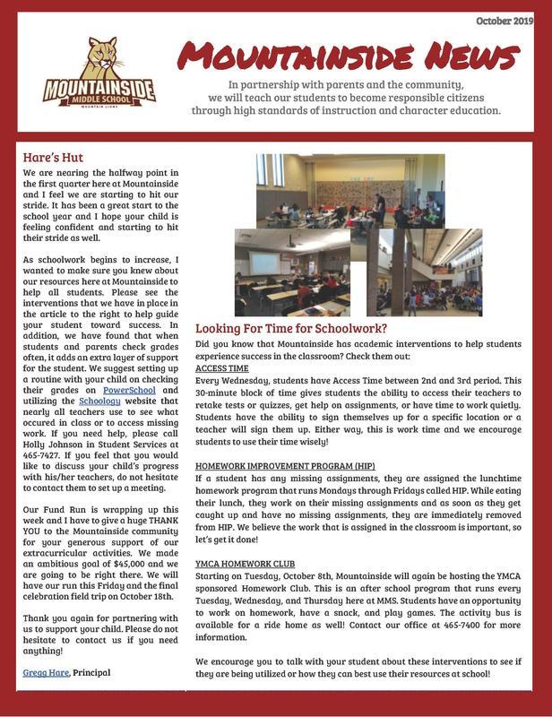 MMS Newsletter October 2019