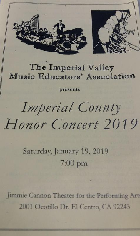 McCabe's Orchestra and Band Students participate in the Imperial County Honor Concert Thumbnail Image