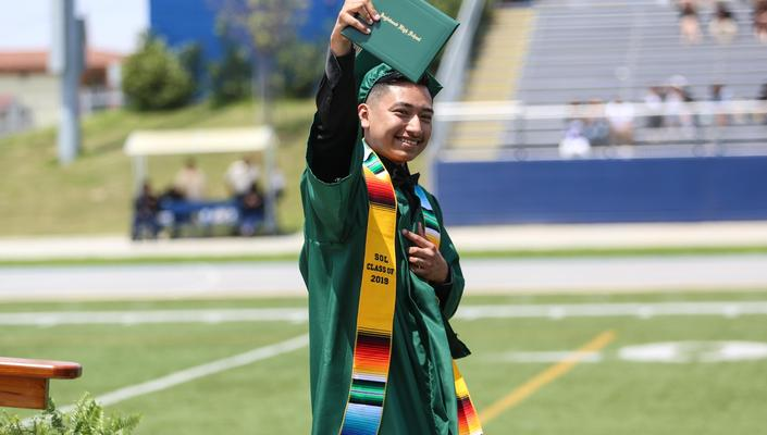 Inglewood High School Senior on Graduation