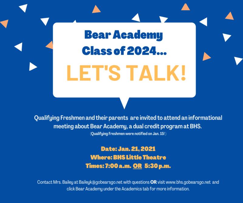 Bear Academy informational meeting Featured Photo