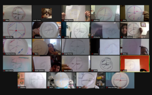 Zoom class showing pi circle drawings