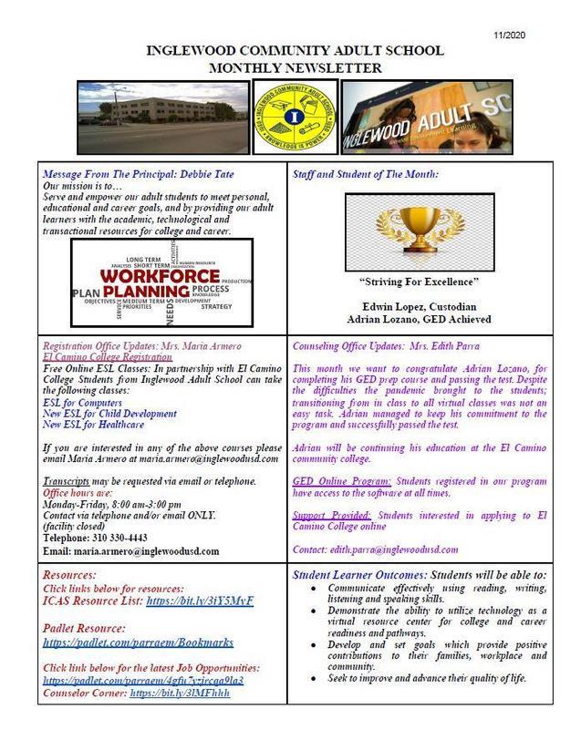 ICAS November Newsletter