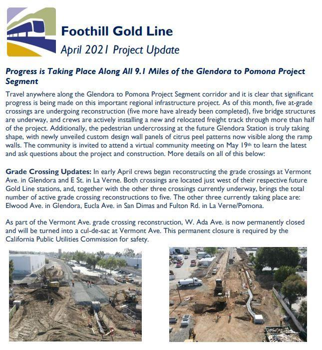 Foothill Gold line