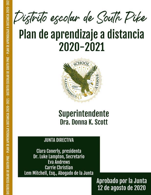 Plan de aprendizaje a distancia 2020-2021